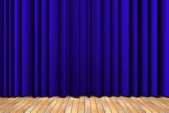 blue curtain police theater blue curtain with wooden stage stock photo image