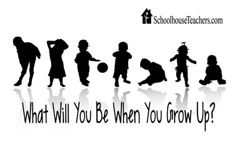 What Will I Be what will you be when you grow up the schoolhouse