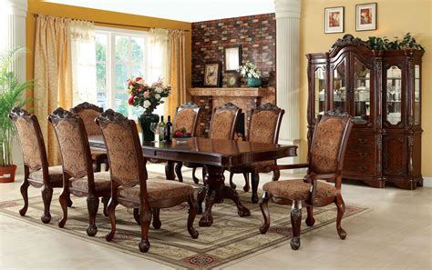 How To Set A Formal Dining Room Table Cromwell Antique Cherry Formal Dining Room Set Cm3103t Table Furniture Of America