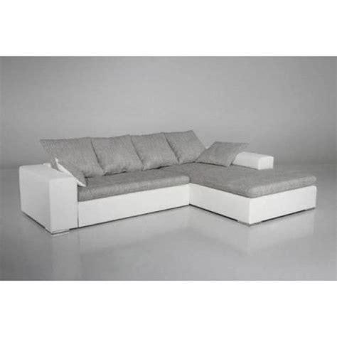 canapé gris blanc photos canap 233 gris et blanc cdiscount