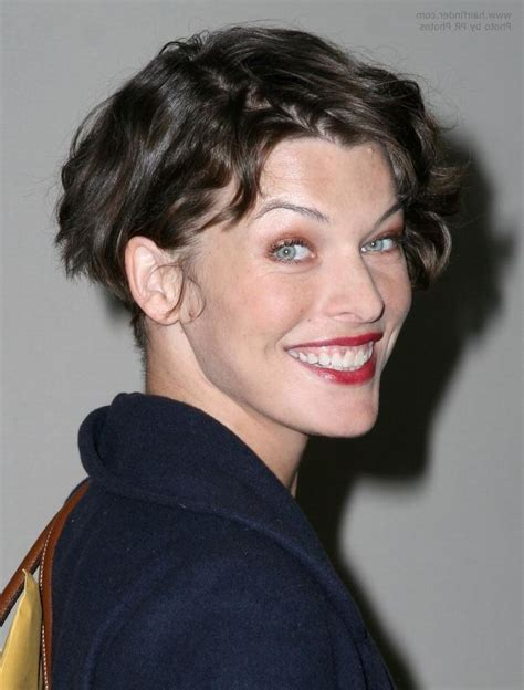 short haircuts middlelobe 15 collection of milla jovovich curly short cropped bob