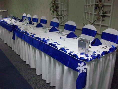 Royal Blue and White Winter Wedding   Marquise Ballroom in