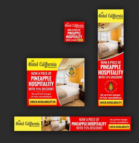 banner ad layout hotel banner ad design for a company by laurra design