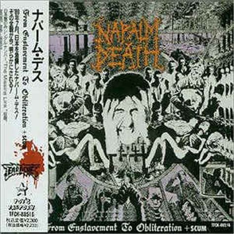 Cd Napalm From Enslavement To Obliteration Import napalm from enslavement to obliteration scum cd