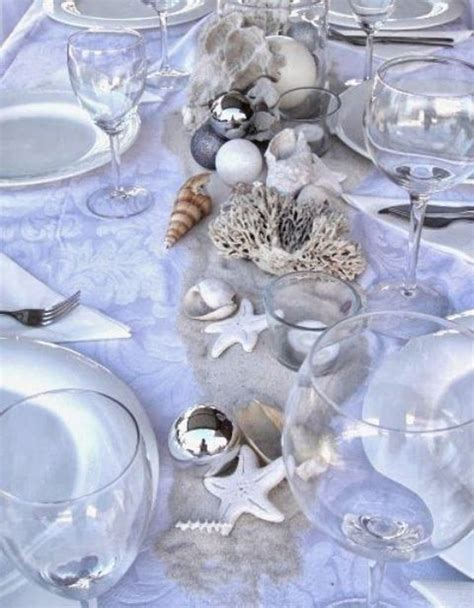 beach christmas table setting ideas
