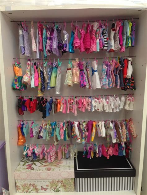 Barbies Closet by Closet Clothes Storage Diy Doll