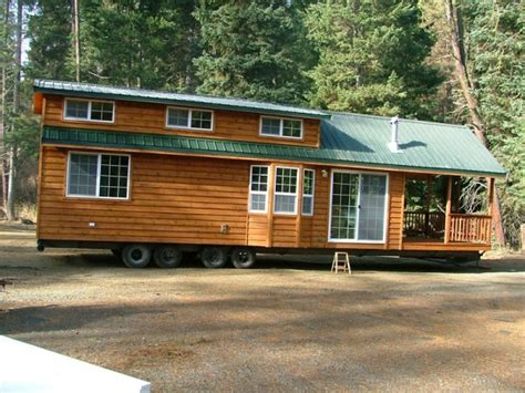 tiny houses on wheels spacious cabin on wheels with large windows tiny house pins