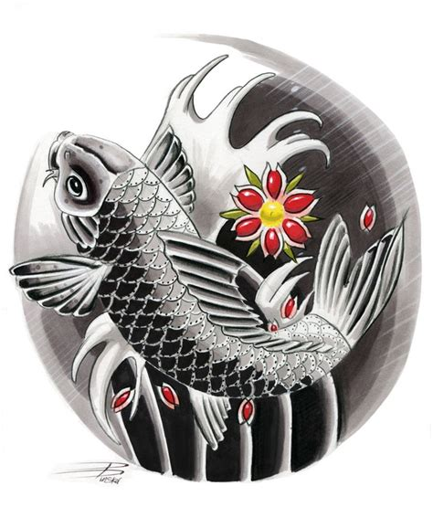 japanese koi tattoo japanese koi design by davepinsker on deviantart
