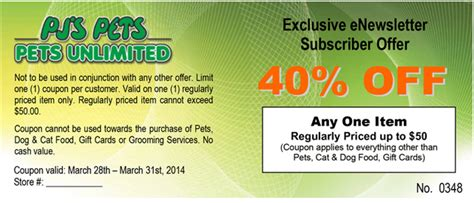 pj s pets and pets unlimited printable coupon save 40