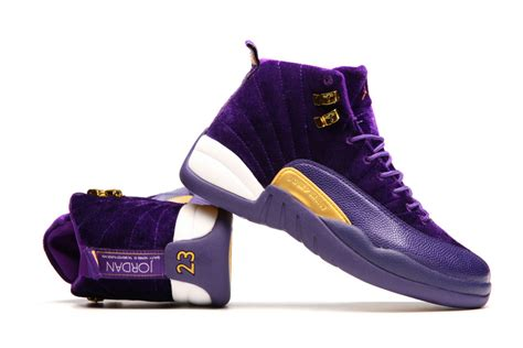 purple jordans shoes 2017 new air 12 purple velvet gold white shoes for