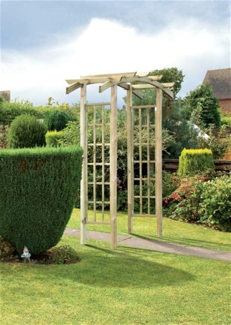 Garden Arches Leicestershire Bow Top Wooden Garden Arch Gazebo Direct