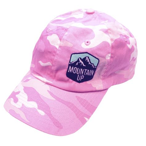 pink camo hat pink camo hat mountain up