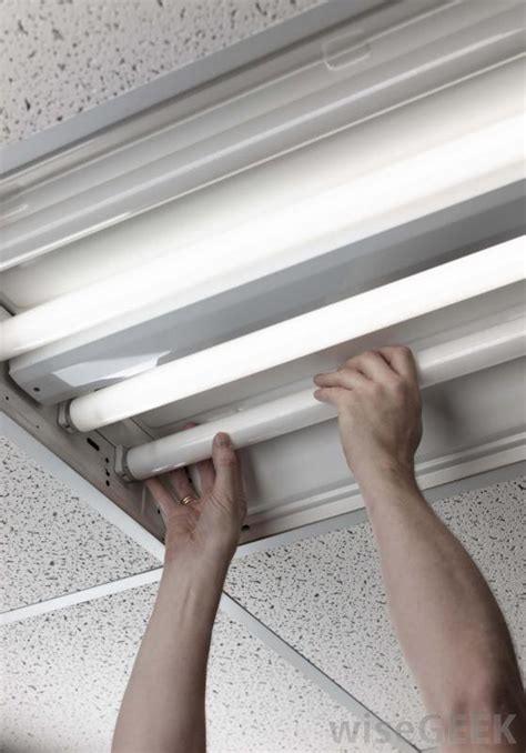 Changing Fluorescent Light Fixture Fluorescent Lighting How To Change A Fluorescent Light Bulb In The Kitchen How To Replace A