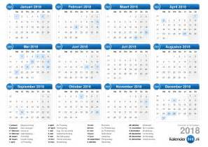 Netherlands Calendario 2018 Kalender 2018