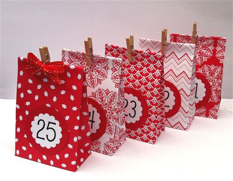 Handmade Gifts From Paper - and white advent calendar gift bags handmade from