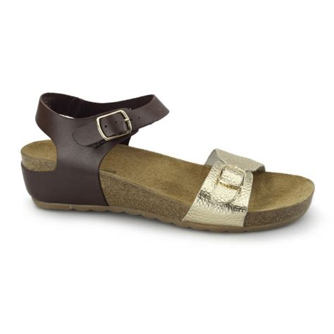 Hush Puppies Silver Brown hush puppies soothe flat sandals brown gold