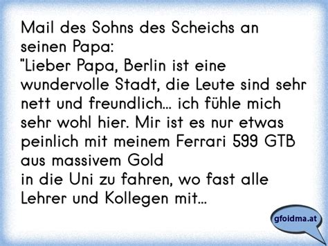 Len Aus Es Schlafen Alle Leute Text by Mail Des Sohns Des Scheichs An Seinen Papa Quot Lieber Papa