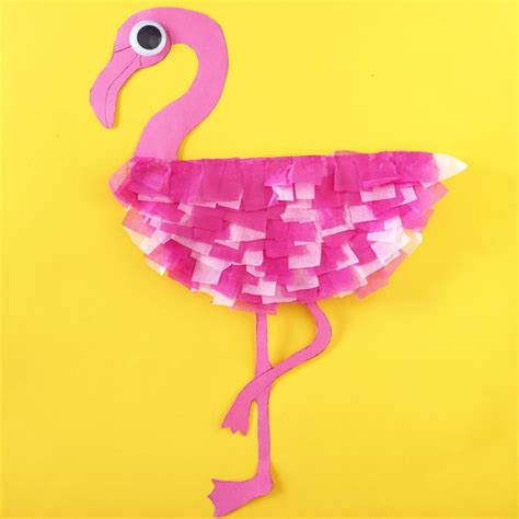 crafts for at paper plate flamingo family crafts