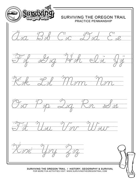 14 best images of 3rd grade cursive worksheets printable