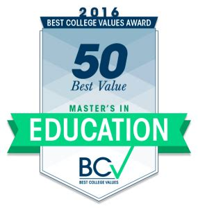 50 Best Colleges For Education 50 best value master s in education best college values