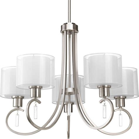 progress lighting brushed nickel chandelier progress lighting invite collection 5 light brushed nickel