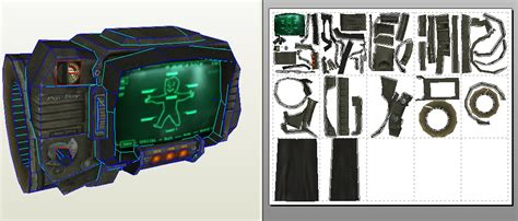 Fallout Papercraft - papercraft pip boy 3000 update