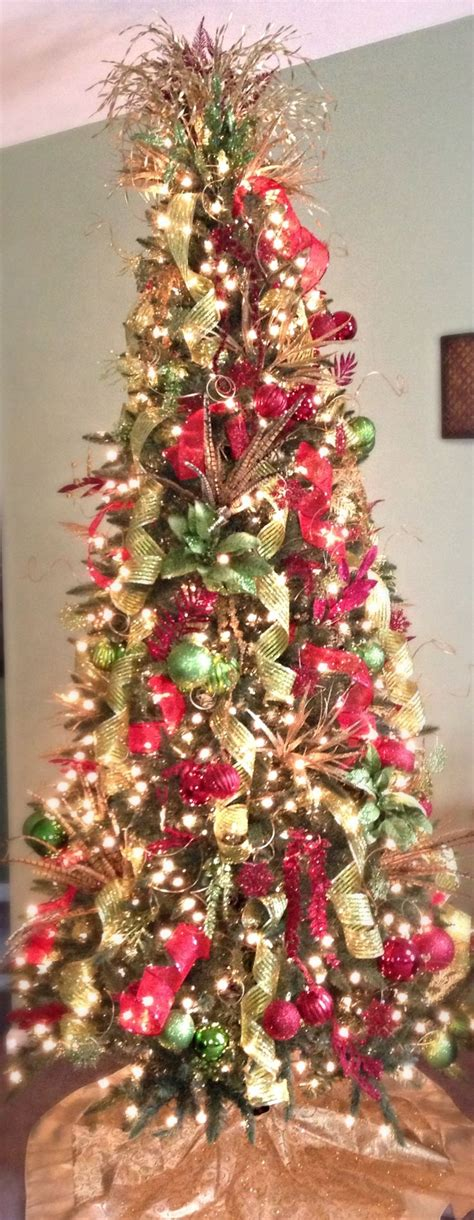red green and gold christmas tree christmas pinterest
