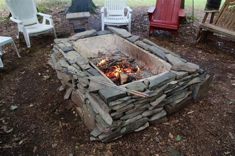 materials to build a pit our firepit from all repurposed materials