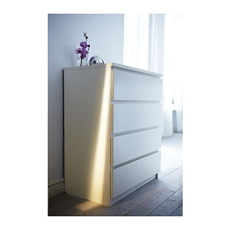 Malm 4 Drawers White by Malm Chest Of 4 Drawers White 80x100 Cm