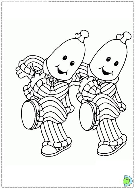 bananas in pajamas coloring pages az coloring pages