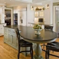 Kitchen Island With Built In Table Bar Height Dining Table Foter