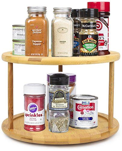 Pantry Lazy Susan Organizers by Bamboo Tier Lazy Susan Turntable Pantry Kitchen Spice Spin