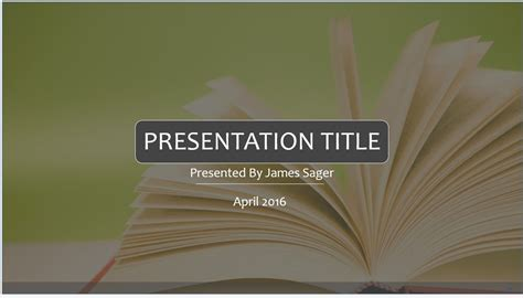 Free Book Powerpoint Template 9003 Sagefox Powerpoint Templates Powerpoint Book Template