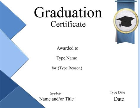 Graduation Gift Certificate Template Free by Graduation Certificate Template Customize Print