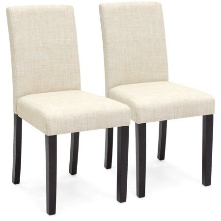 choice products set   fabric parsons dining chairs beige walmartcom