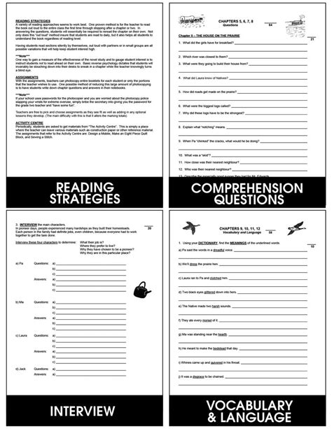 house on the prairie lesson plans house on the prairie grades 4 to 7 ebook