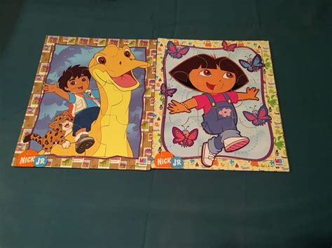 Puzzle Go 2007 viacom nick jr wooden puzzle lot go diego both vg ebay