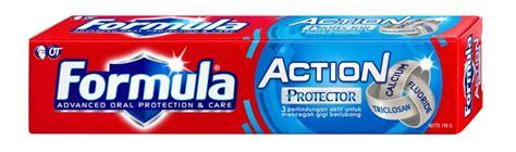 Pasta Gigi Formula pasta gigi dengan 3 perlindungan triclosan fluoride calcium aktif membantu melindungi gigi