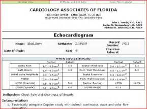 Echocardiogram Report Template Echocardiogram Reports Related Keywords Amp Suggestions