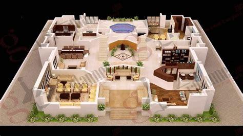 home design 3d 4 bedroom modern house plans 3d