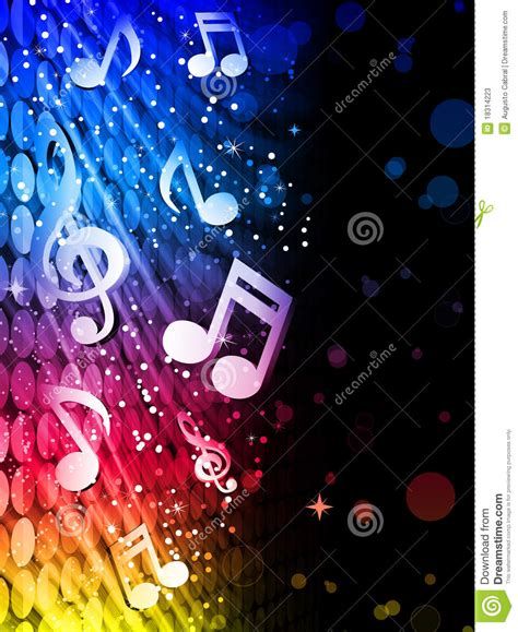 party music party colorful waves background with music notes stock
