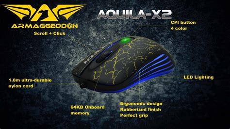 Mouse Gaming Aquila X2 gaming mouse armaggedon aquila x2 mice 3200 dpi 4 button