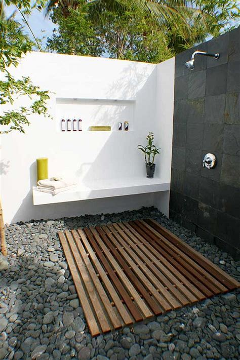 outdoor bathroom designs getting in touch with nature soothing outdoor bathroom