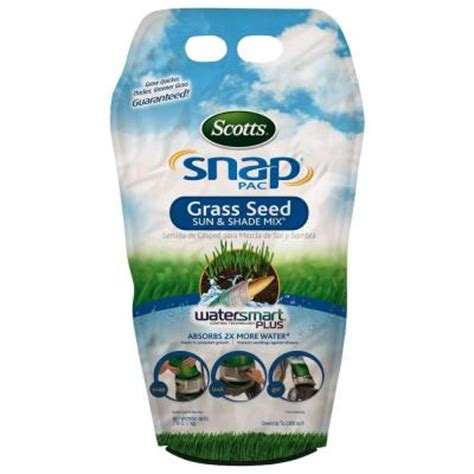scotts snap pac 7 lb sun and shade grass seed
