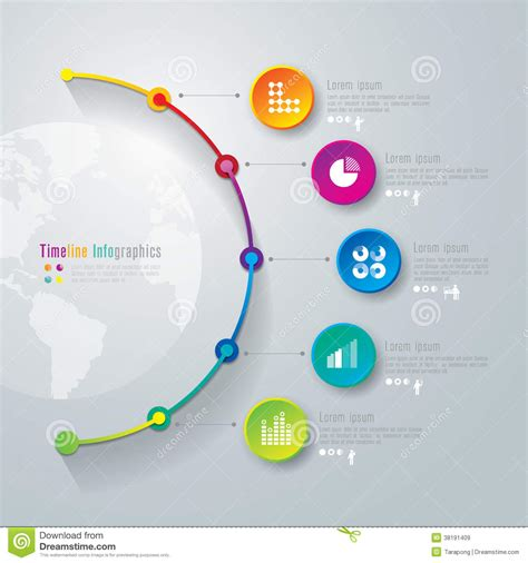 timeline infographics design template royalty free stock