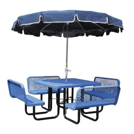 46 quot square table bench seats outdoor school furniture