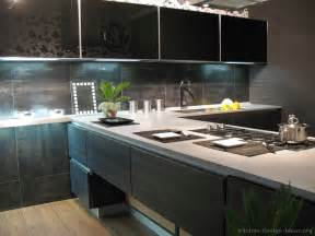 Black Metal Kitchen Cabinets Kitchen Idea Of The Day Modern Wood Kitchen With Tinted Glass Cabinets Modern