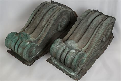 Architectural Corbels Large Copper Architectural Corbels Sylvia Antiques