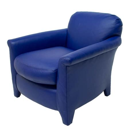 modern blue leather chair modern blue leather upholstered club chair