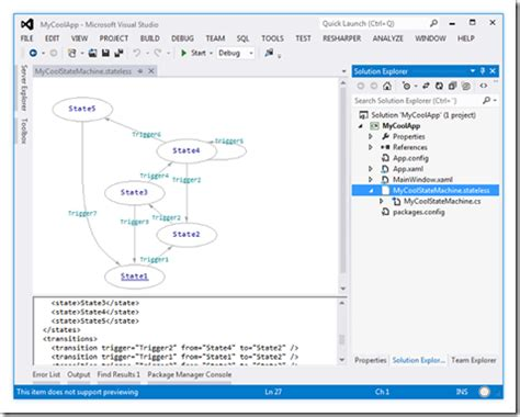 state machine workflow exle source code stateless designer visual studio extension with source